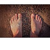 Strand, Barfuß, Füße