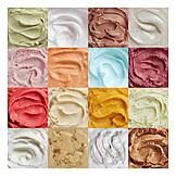 Collage, Ice cream flavours