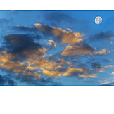 Sky Only, Clouds, Moon