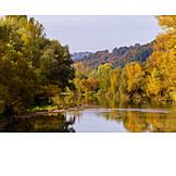 Lake, Forest, Autumn