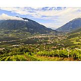 South tyrol, Vinschgau, Parcines