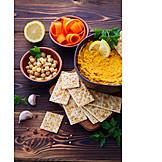 Orientalische Küche, Cracker, Hummus