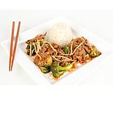 Asian Cuisine, Rice, Beef