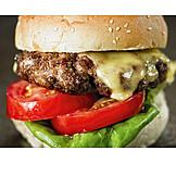 Hamburger, Burger, Amerikanische Küche
