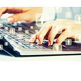Keyboard, Internet, Contact, Social Network