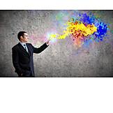 Geschäftsmann, Individualität & Einzigartigkeit, Business, Kreativität, Designer