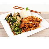 Asian Cuisine, Chicken, Lunch
