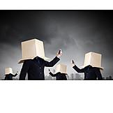 Geschäftsmann, Business, Identität, Anonym, Filterblase, Abgeschottet