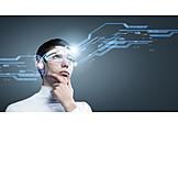Nachdenklich, Medien, Forschung, Virtuelle Realität