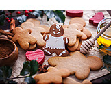 Frosting, Ornamental, Christmas biscuit, Gingerbread man