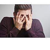 Man, Anxious, Desperate, Bad News, Frightened, Shocked