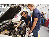 Woman, Education, Apprentice, Car Mechanic