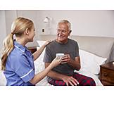 Tee, Altenpflege, Unterstützen, Häusliche Betreuung