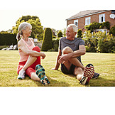 Active Seniors, Warming Up, Stretching, Older Couple