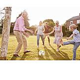 Fußball, Spaß, Spielen, Gemeinsam, Familienleben