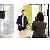 Business, Talk, Studio, Seminar, Filming, Professor, Vlog, Imagefilm