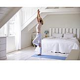 Zuhause, Balance, Yoga, Morgens