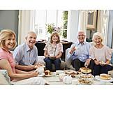 Smiling, Joy, Seniors, Coffee Party, Coffee Talk