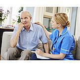 Zuhören, Altenpflege, Trösten, Pflegedienst, Hausbesuch, Häusliche Betreuung