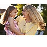 Mutter, Glücklich, Sommer, Zuneigung, Tochter