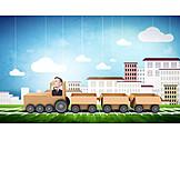 Zug, Handel, Güterverkehr, Schienengüterverkehr