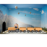 Businessman, Logistics, Train, Mail Order Company