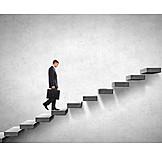 Geschäftsmann, Karriere, Erfolg, Aufstieg, Aufwärts