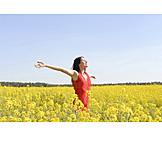 Woman, Spring, Vitality