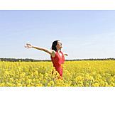 Woman, Spring, Vitality