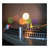 Audio, Dancing, Record player
