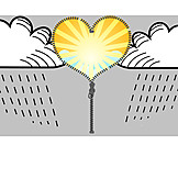 Love, Sun, Heart, Opening