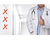 Gesundheitswesen & Medizin, Arzt, Kompetenz, Daumen Hoch