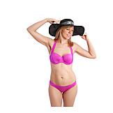 Young Woman, Bikini, Swimwear