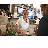 Butcher's shop, Customer, Sales executive, Selling dialogue