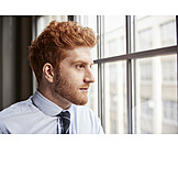 Businessman, Pensive
