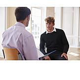 Schüler, Beratungsgespräch, Psychologe, Vertrauenslehrer