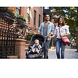 Toddler, City Trip, Walk, Urban, Metropolis, Family