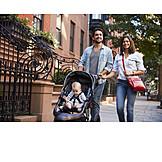 Kleinkind, Städtereise, Spaziergang, Urban, Großstadt, Familie