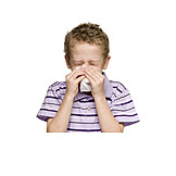 Child, Sniffing, Blow Nose, Blowing Nose