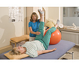 Exercise, Physiotherapy, Back Discomfort, Pezziball
