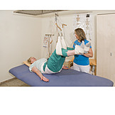 Physical Therapy, Back Discomfort, Sling Table