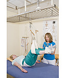 Physiotherapy, Physical Therapy, Back Discomfort, Sling Table