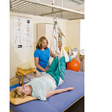 Krankengymnastik, Physiotherapie, Schlingentisch