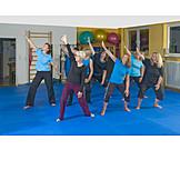 Gymnastik, Rückengymnastik, Sportgruppe, Rehasport