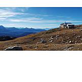 Schlern mountain, South tyrol dolomites, Schlernhaus