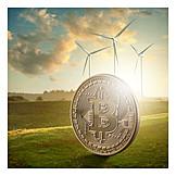 Wind, Bitcoin