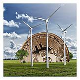 Pinwheel, Wind, Bitcoin