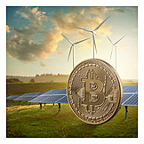Wind, Energy Use, Solar Energy, Bitcoin