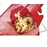 Asian Cuisine, Pasta Dish, Take Away