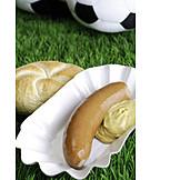 Fußball, Pausensnack, Bockwurst